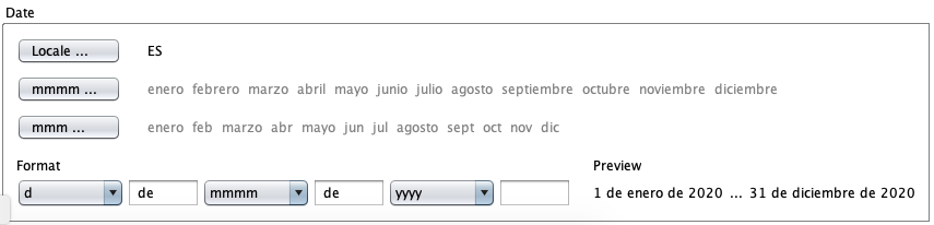 Spanish date format