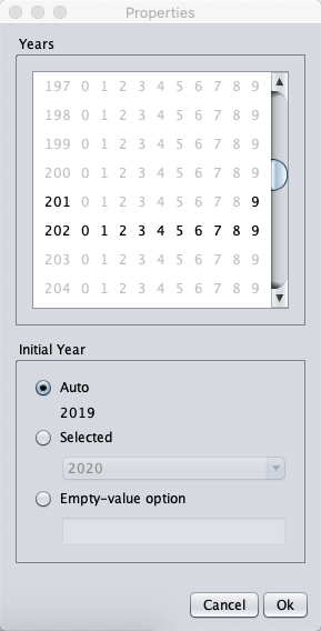 Specifying the date-you-can-start years the user can select on the job application form