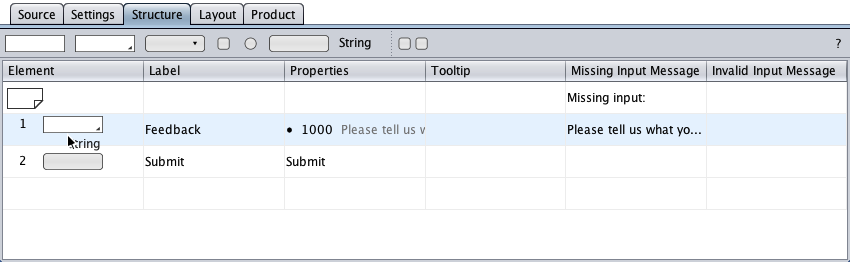 Adding a string component to the conditional submit button form